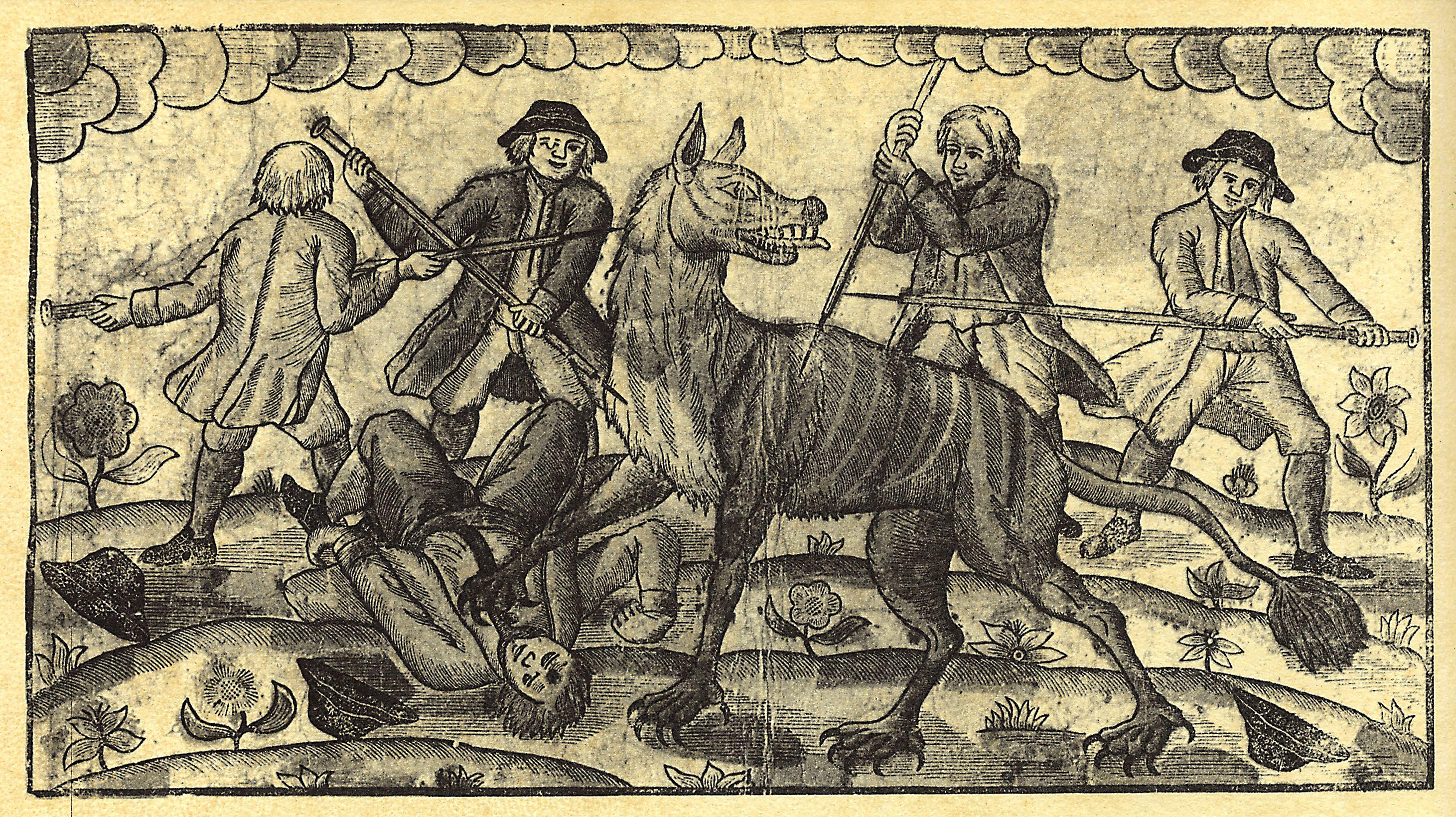 A danish newspaper from copenhagen depicts the Gévaudan creature
