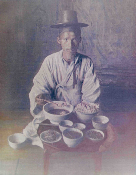 파일:Traveler meal 1900s korea.jpg