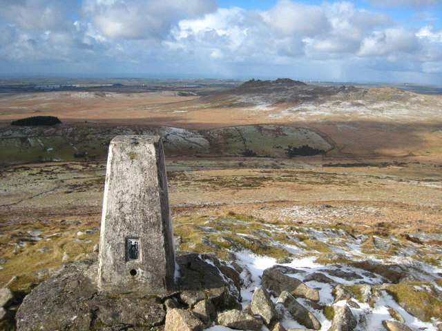 Trig point on the summit of Brown Willy (geograph 1685451)