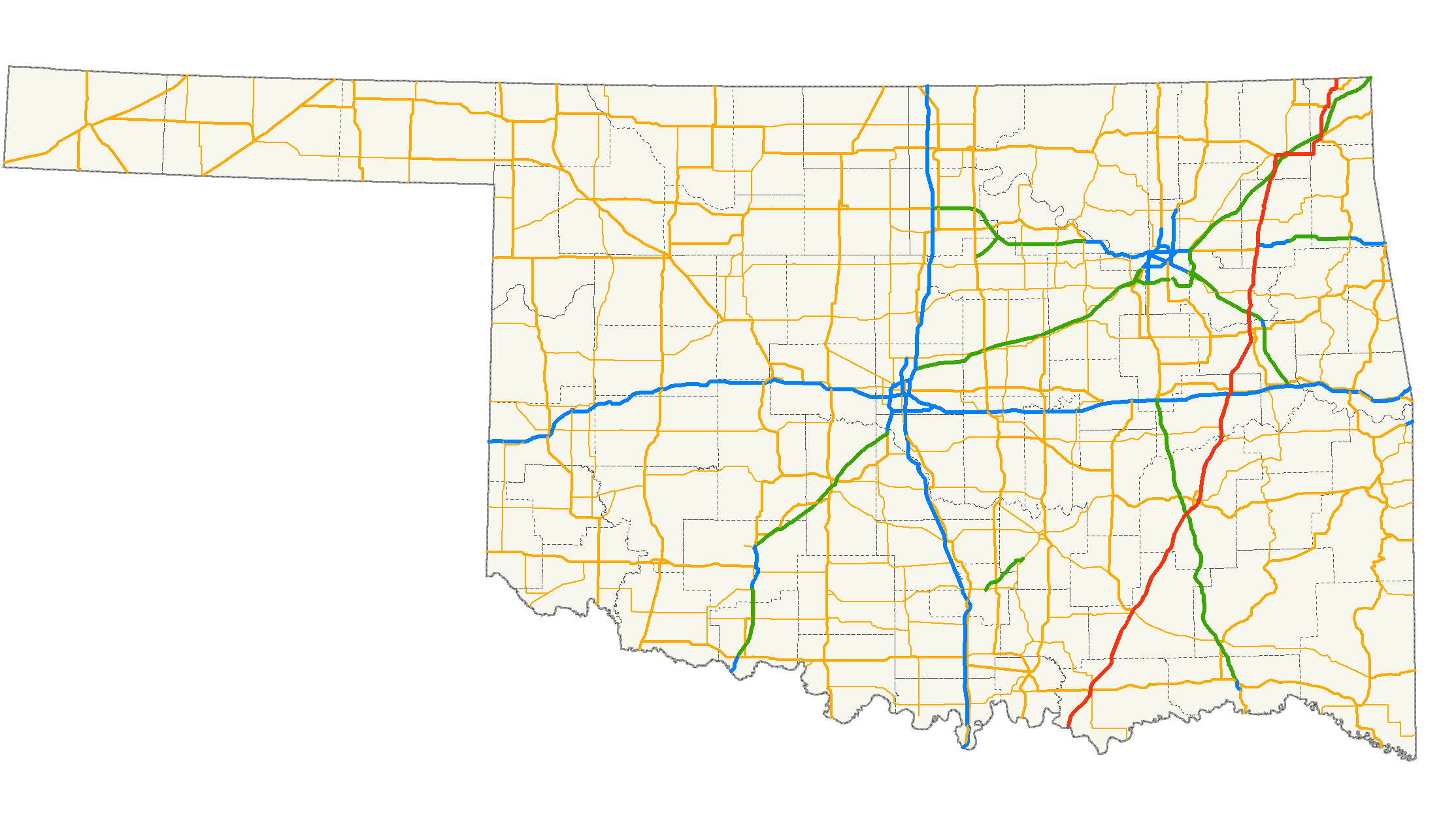 US Route In Oklahoma Wikiwand - Oklahoma highways map