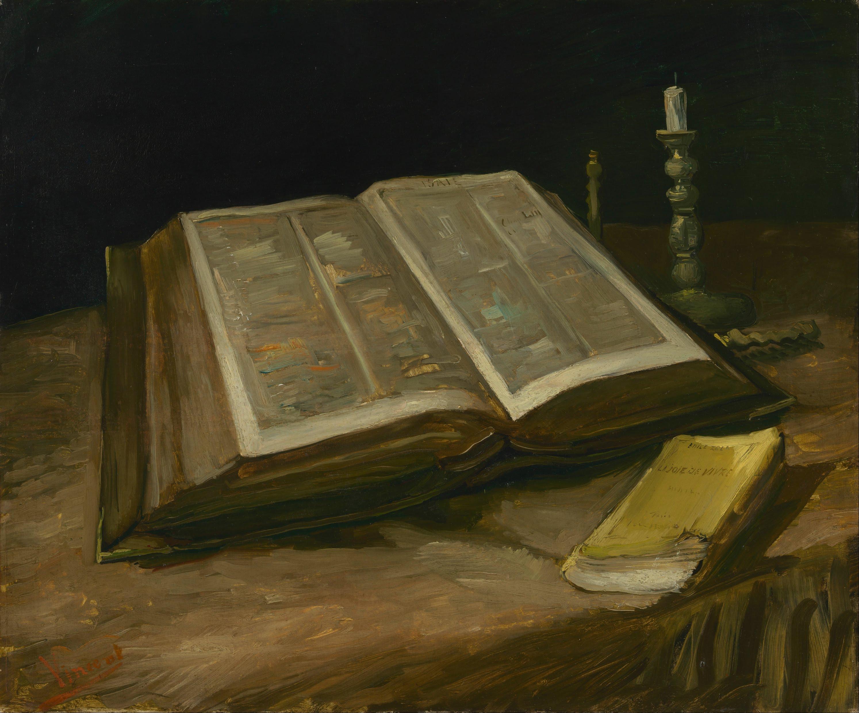 Vincent van Gogh - Stillleben mit Bibel - Quelle: WikiCommons