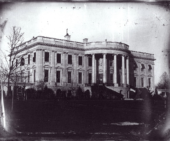 1846 daguerrotype of the White House by John Plumbe, courtesy of the Library of Congress
