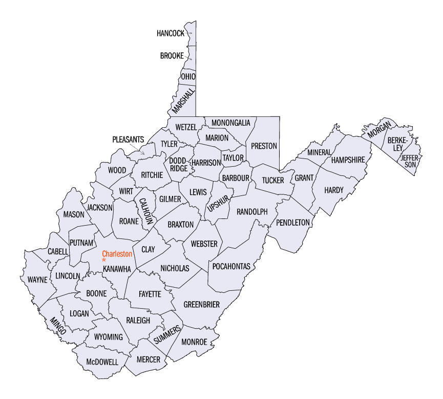 National Register of Historic Places listings in West Virginia – Tourist Attractions Map In West Virginia