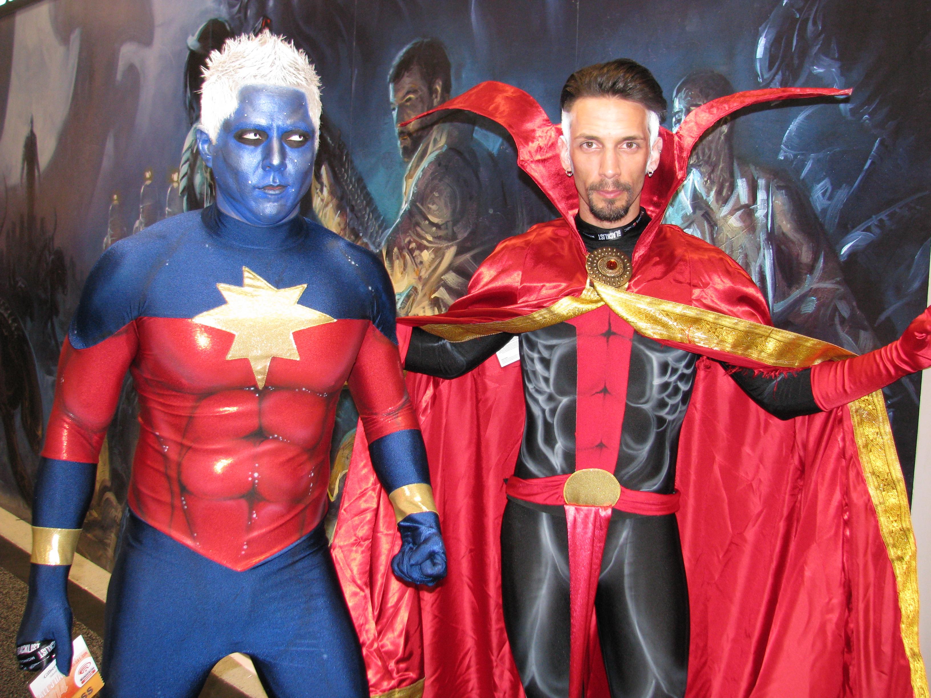 file:wondercon 2014 - captain marvel and doctor strange