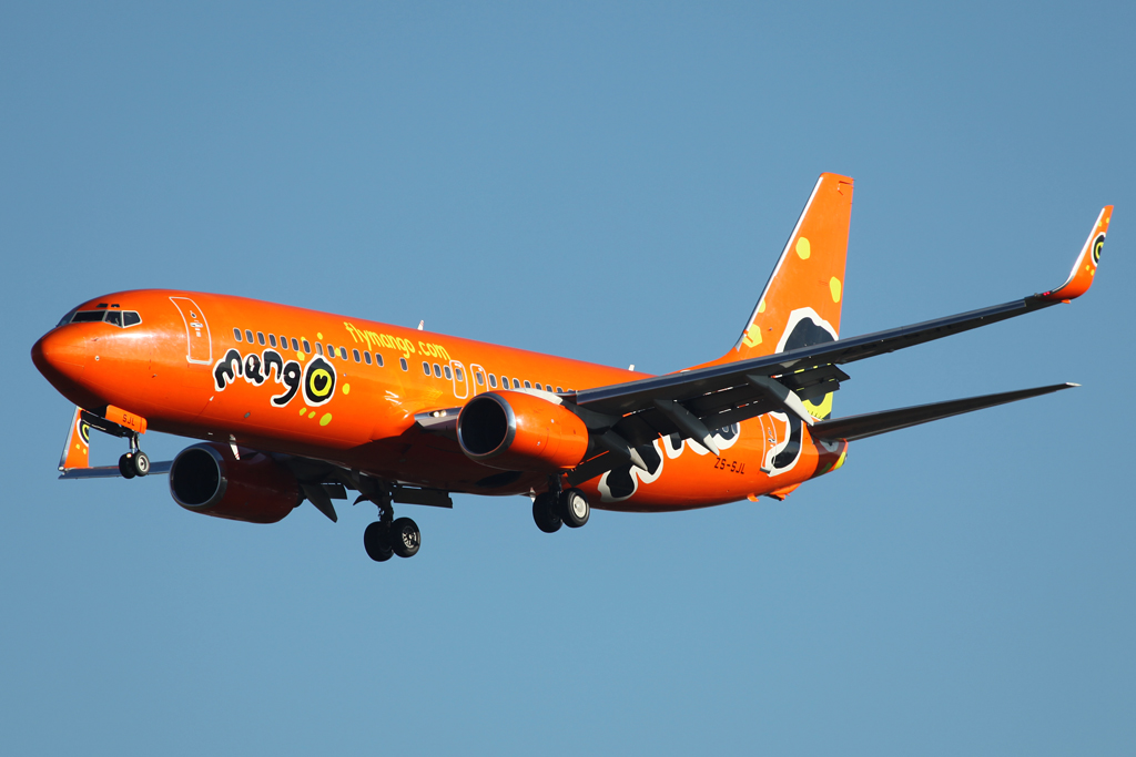 Boeing 737-800 der Mango - Africa's Low-Cost Airlines