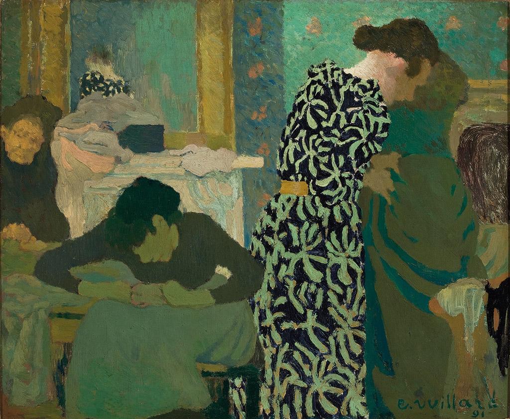 Édouard Vuillard, The Flowered Dress