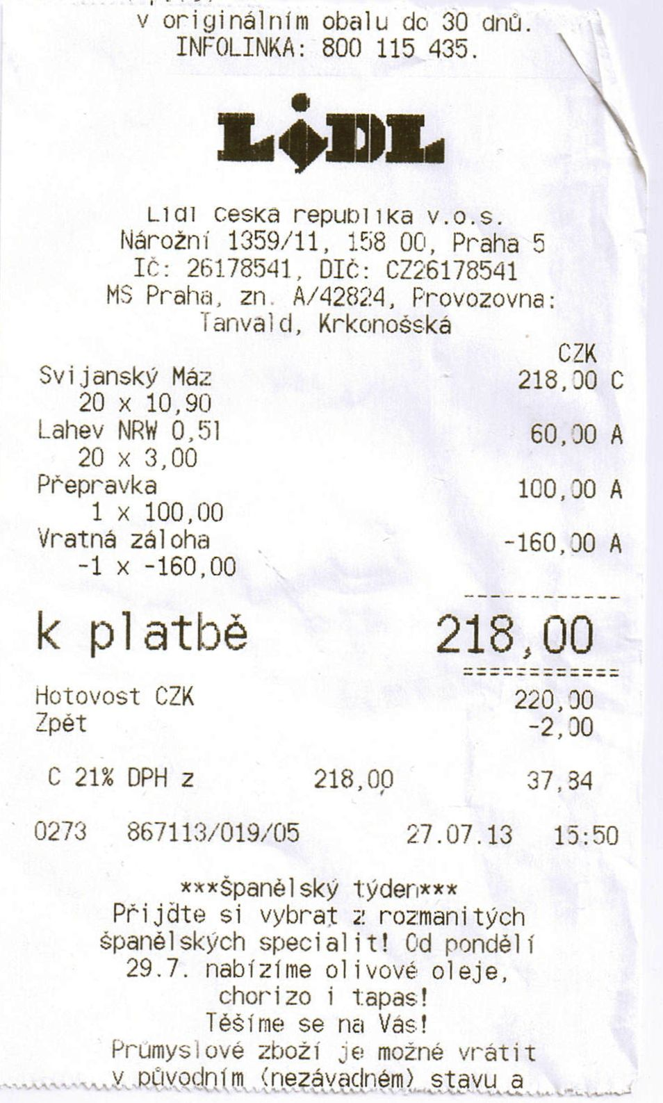 File Uctenka Lidl Jpg Wikimedia Commons