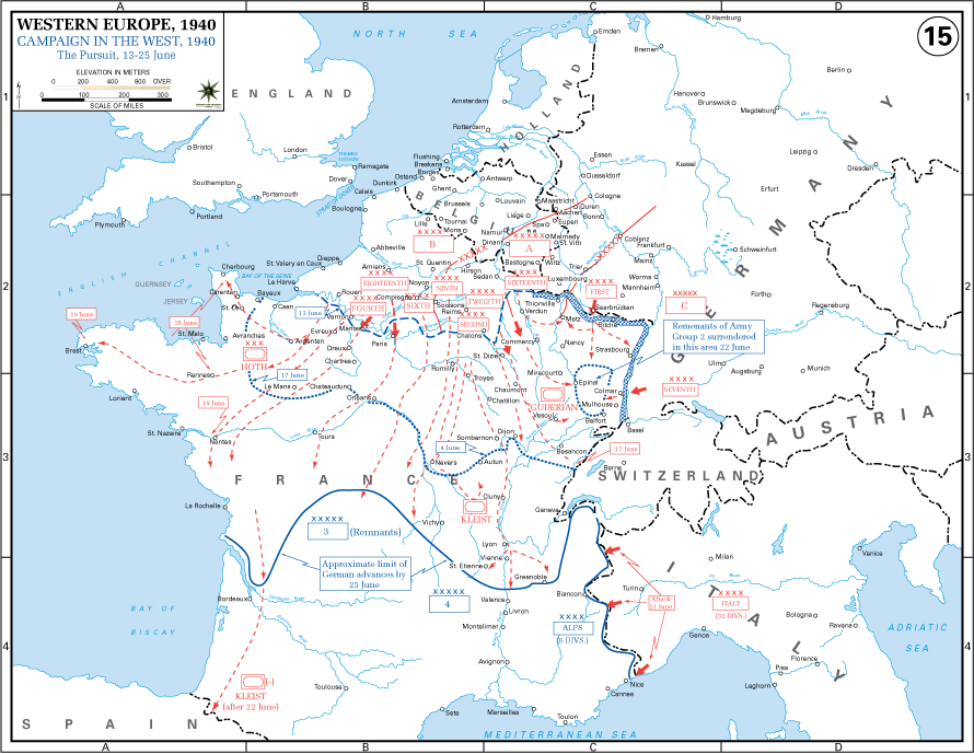 Case Yellow, Case Red and Sealion 13June-25June_Battle_of_France
