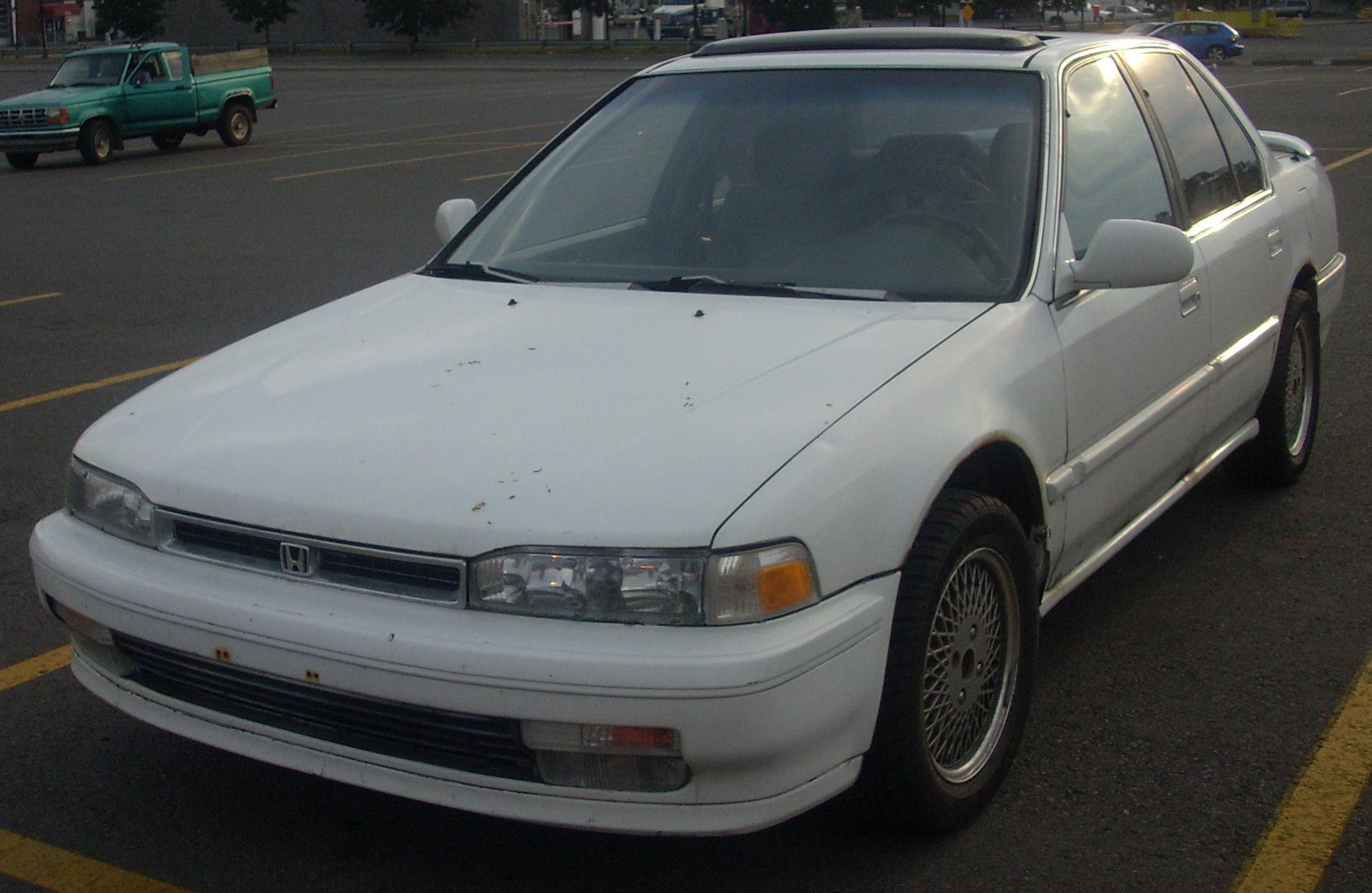 File 1990 1991 Honda Accord Sedan Jpg Wikimedia Commons