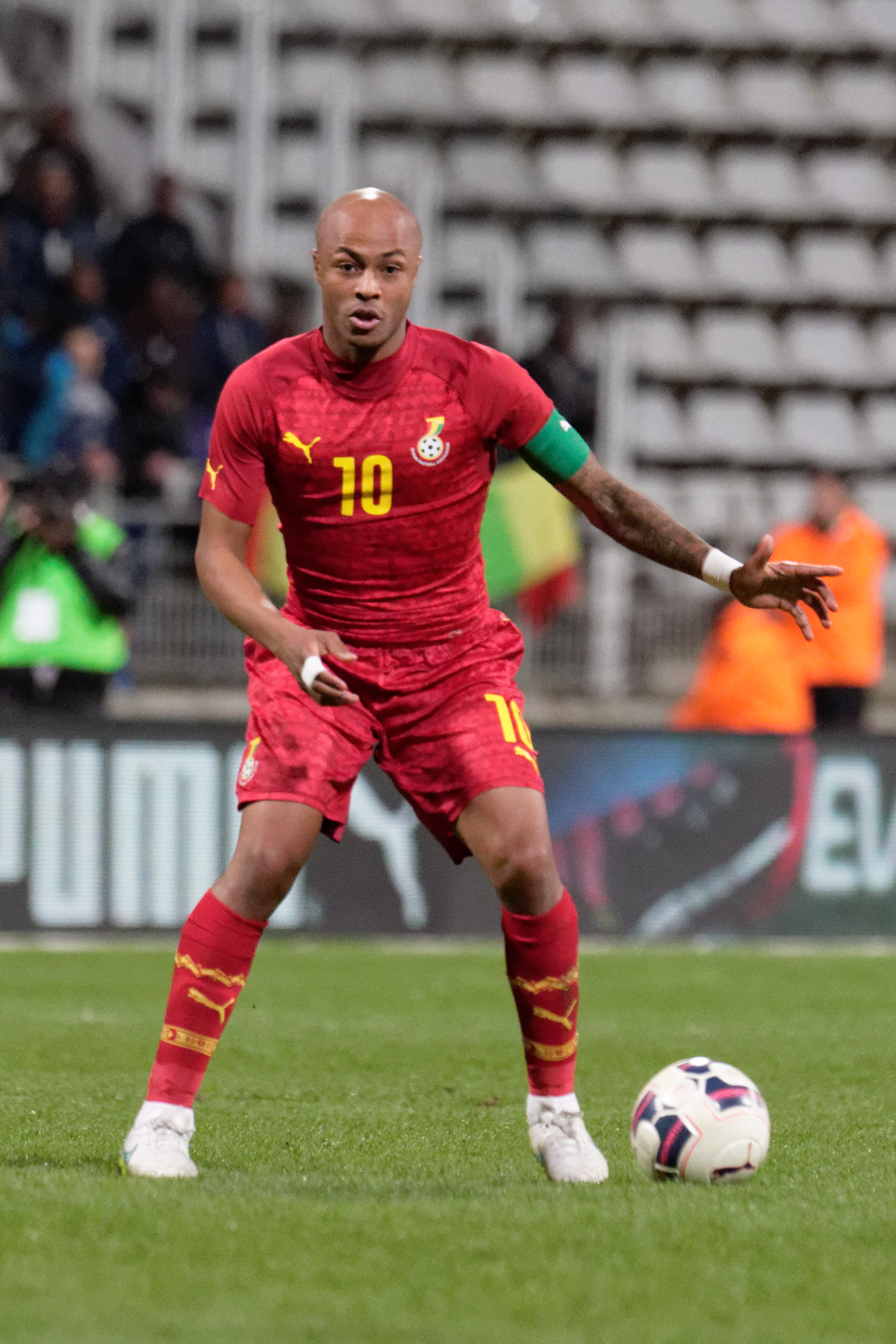 The 28-year old son of father Abedi Pele and mother Maha Ayew, André Ayew in 2018 photo. André Ayew earned a  million dollar salary - leaving the net worth at 22 million in 2018