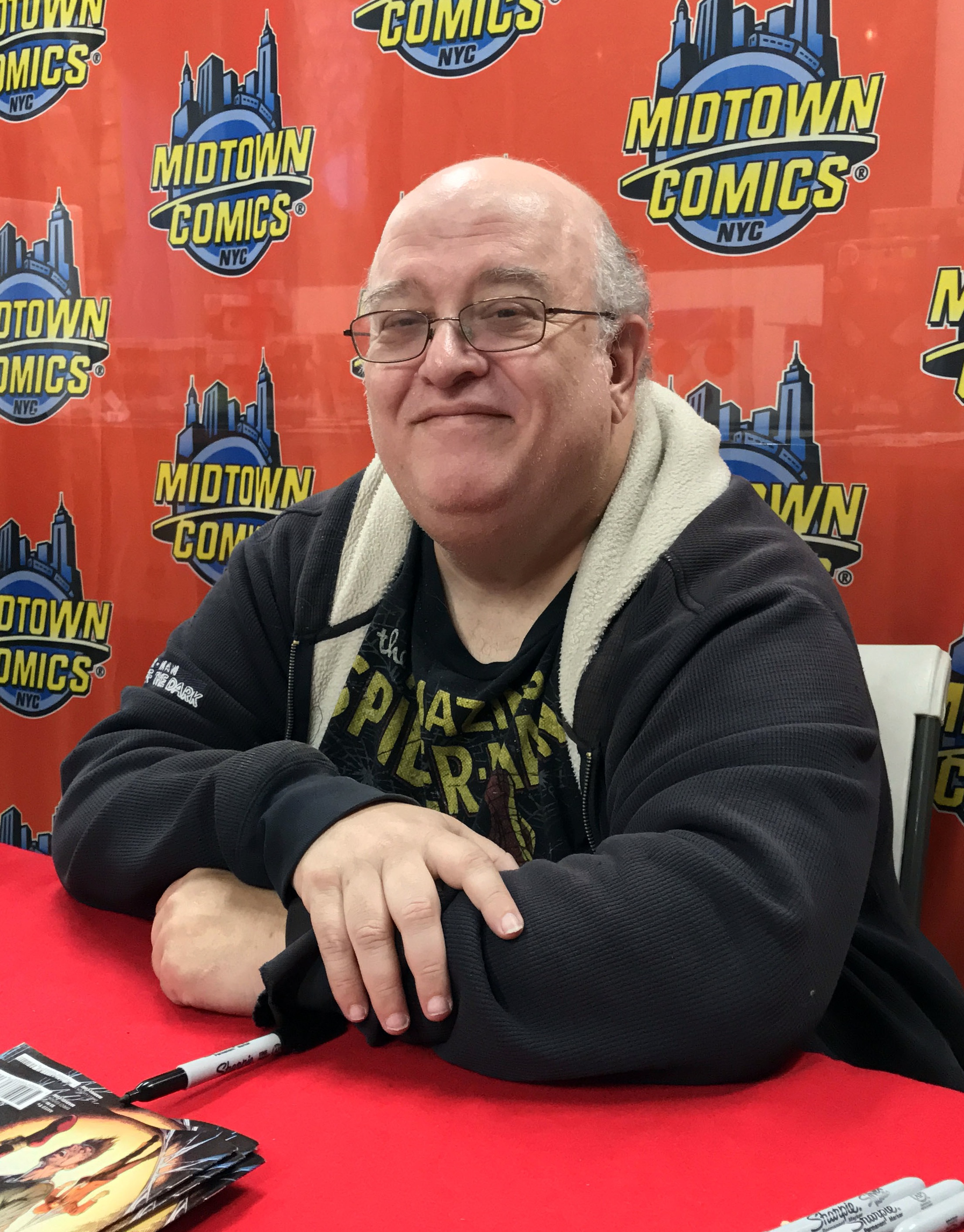 David at an April 27, 2017 signing for<br>''[[Ben Reilly: The Scarlet Spider]]''<br>at [[Midtown Comics]]