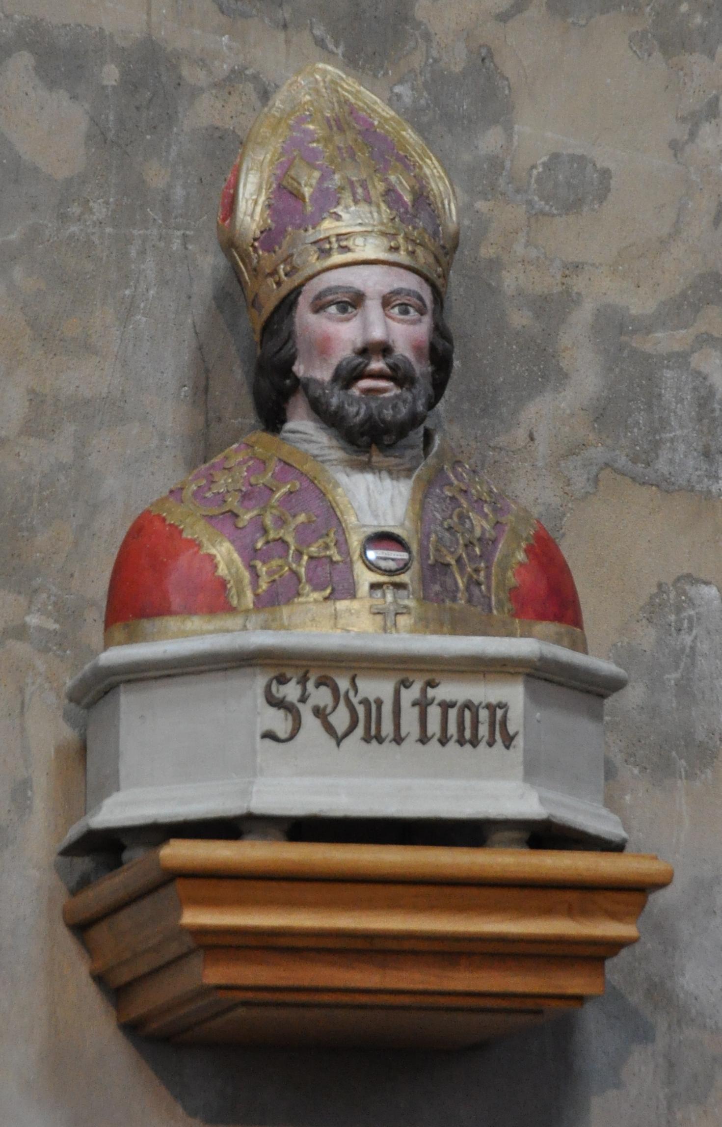 Byste av St Wulfran i kirken Saint-Wulfran i Abbeville