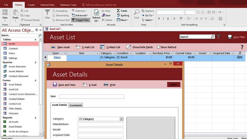 MS Access - Database Management System by Microsoft