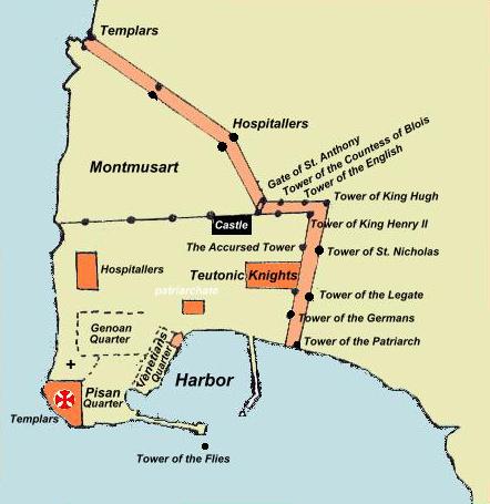 מפת עכו , 1291