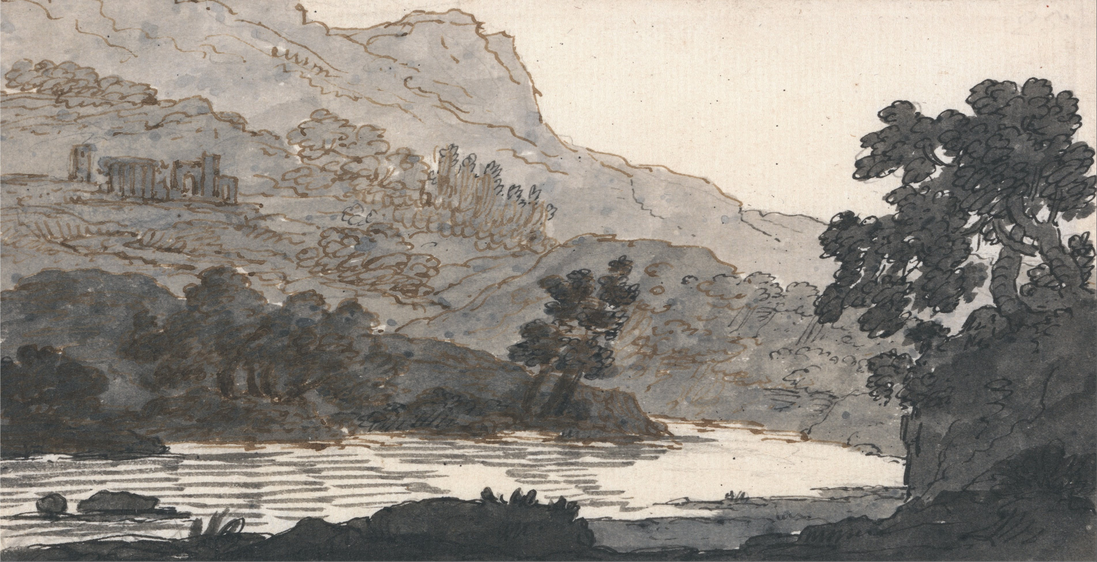 Fichier Alexander Cozens River And Mountain With Ruins Google