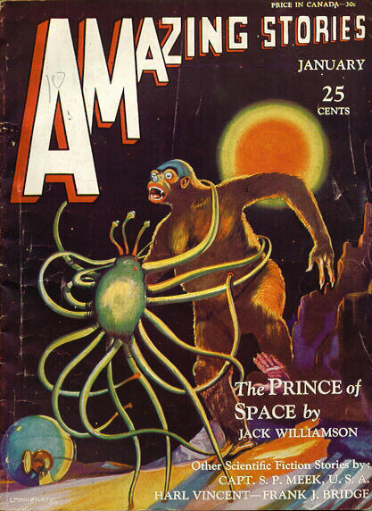 "Williamson's novella ""The Prince of Space"" was cover-featured on the January 1931 Amazing Stories Amazing stories 193101.jpg"