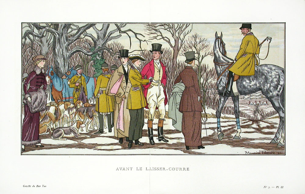 Maurice Taquoy: Antes de la caza. Ilustración de la revista