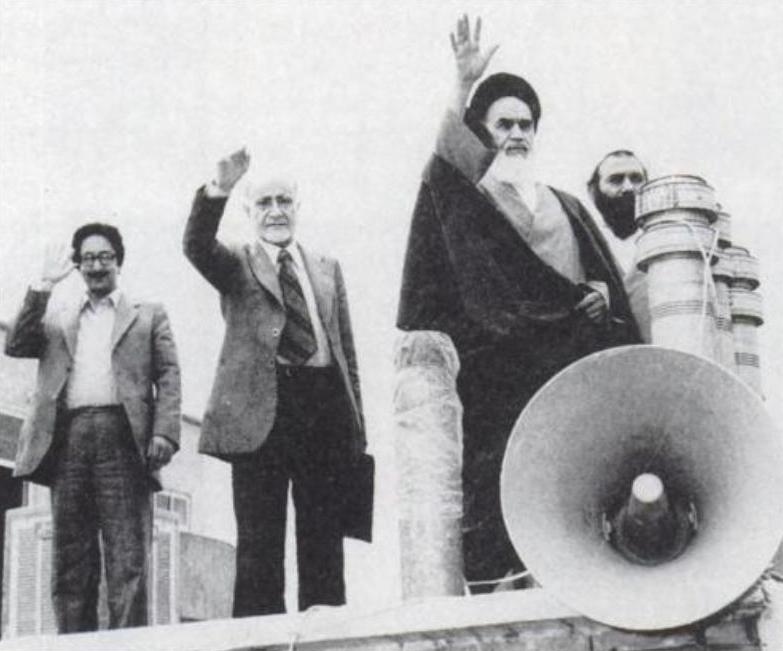 Grand Ayatollah Khomeini (1900-1989) - political & spiritual leader of Iran Banisadr-bazargan-khomeini