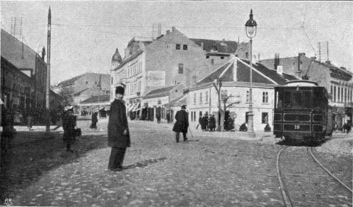 Wiev on The Knez Mihajlova street, Belgrade