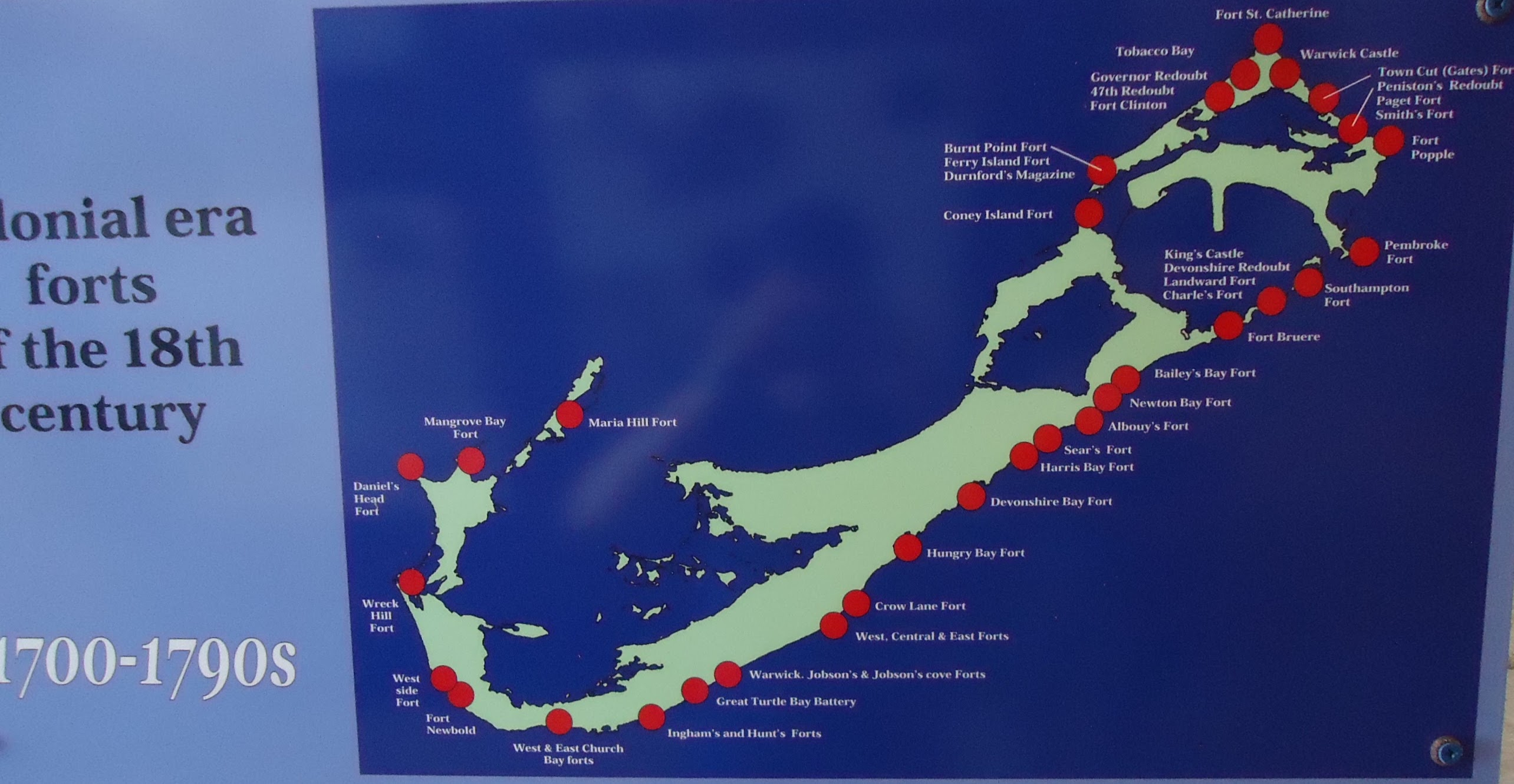 File:Bermuda (UK) Number 153 Map of fort locations in ...