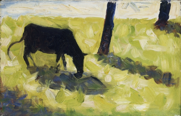 File:Black Cow in a Meadow by Georges Seurat.jpeg