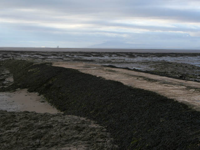 Breakwater at Knott End - geograph.org.uk - 1758473