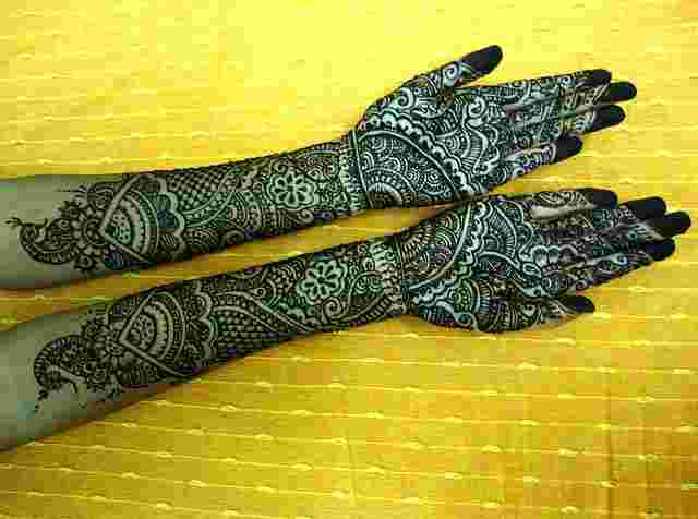 Mehndi Bridal Mehndi Design : File bridal mehndi design g wikimedia commons