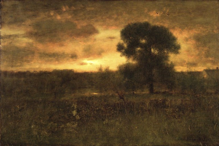 george inness early moonrise - 768×512