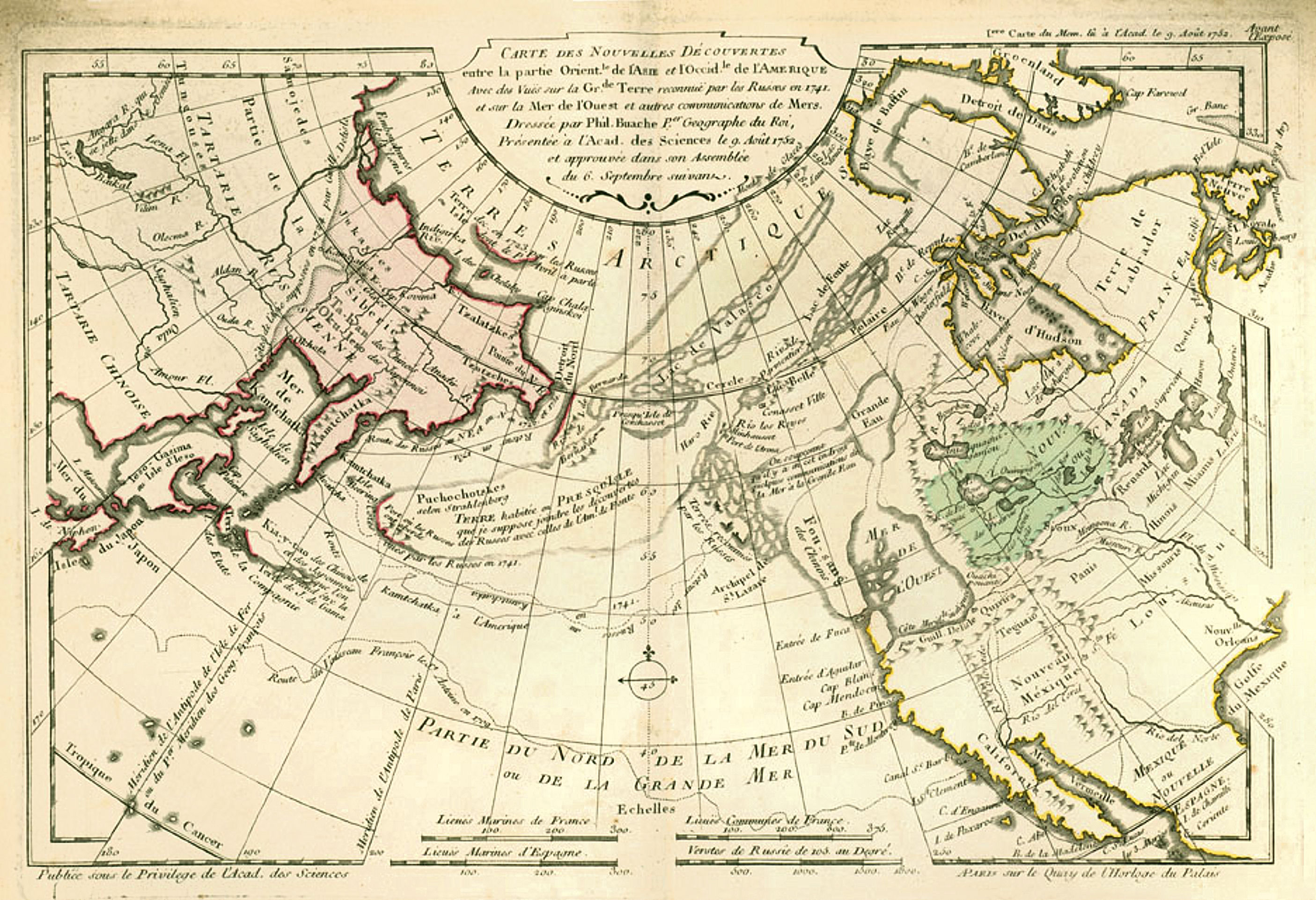 This 1753 map by Philippe Buache locates [[Fusang
