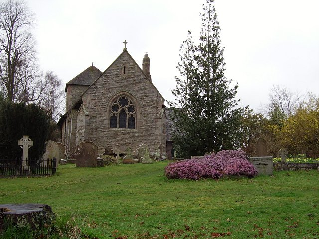 St Mary's parish church, Caynham, Shropshire, seen from the east