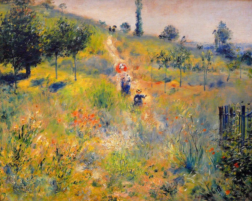 Mouvements dans la peinture. Movements in landscape painting.
