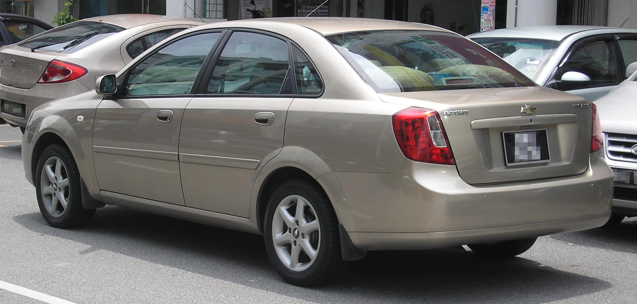File:Chevrolet Optra (first generation) (rear), Serdang.jpg ...