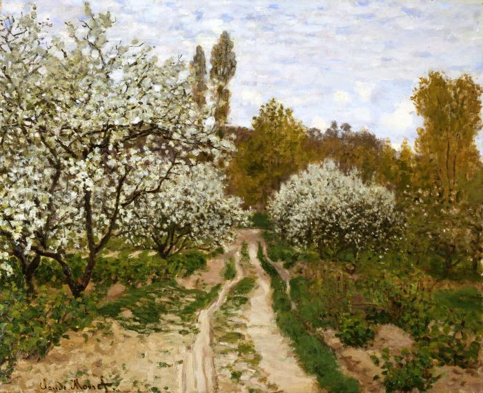 File:Claude Monet - Pommiers en fleurs - ULC Chicago.jpg