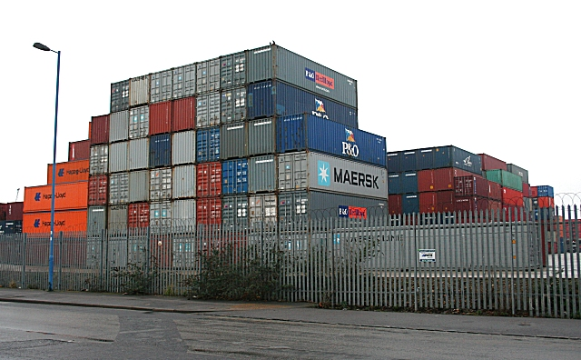 Containers in Southampton Docks - geograph.org.uk - 1715652