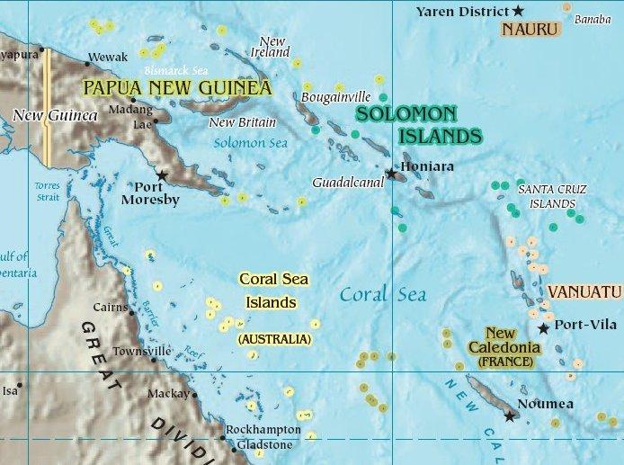 Coral Sea - Simple English Wikipedia, the free encyclopedia