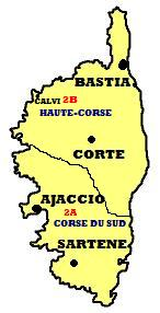 Map of Corsica