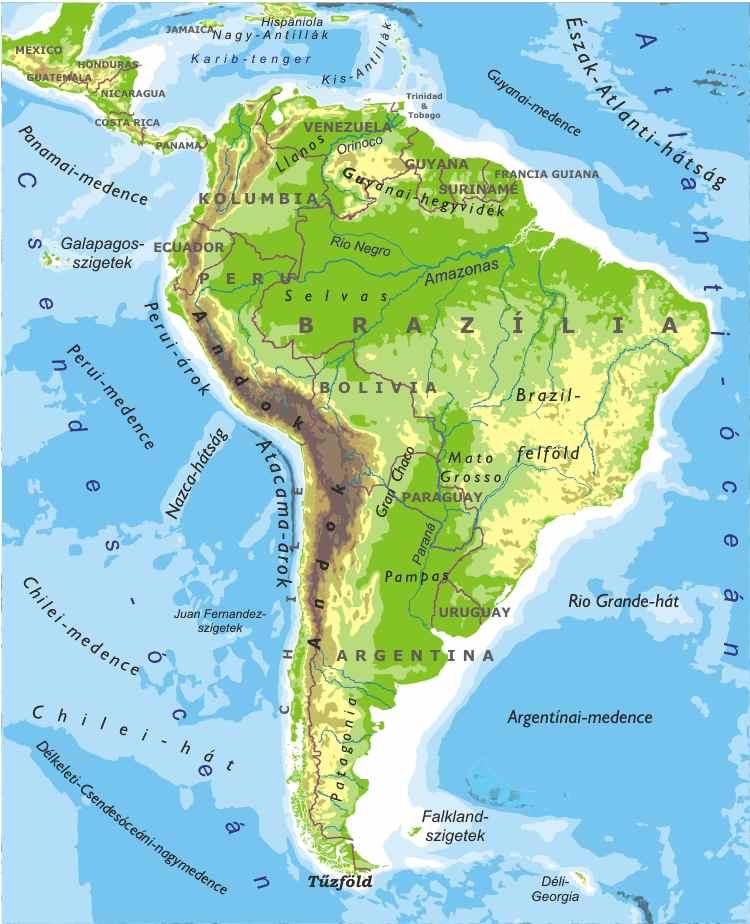dél amerika térkép országok Fájl:Del Amerika. – Wikipédia dél amerika térkép országok