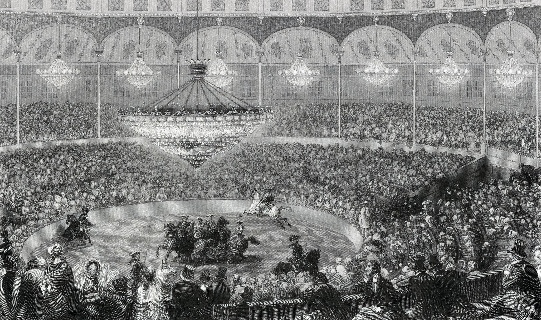 File:Eugène Louis Lami, Circus, Champs Elysees, Paris - NYPL Digital Collections