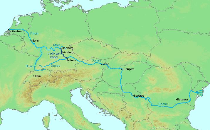 водных путей Европы от