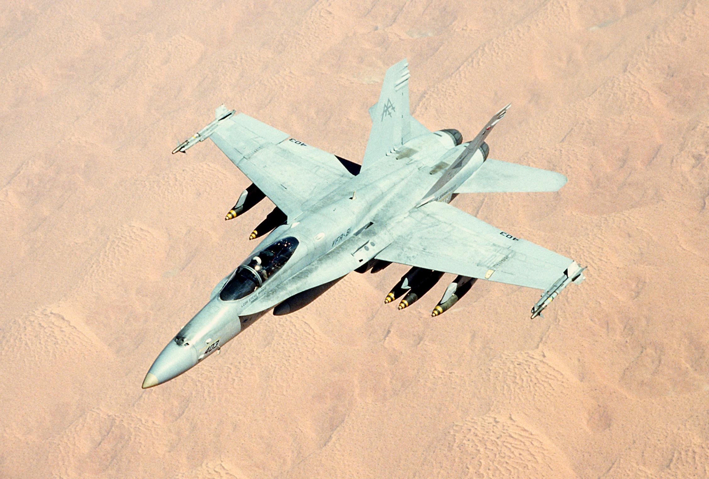 F-18C_VFA-81_in_flight_during_Gulf_War_1