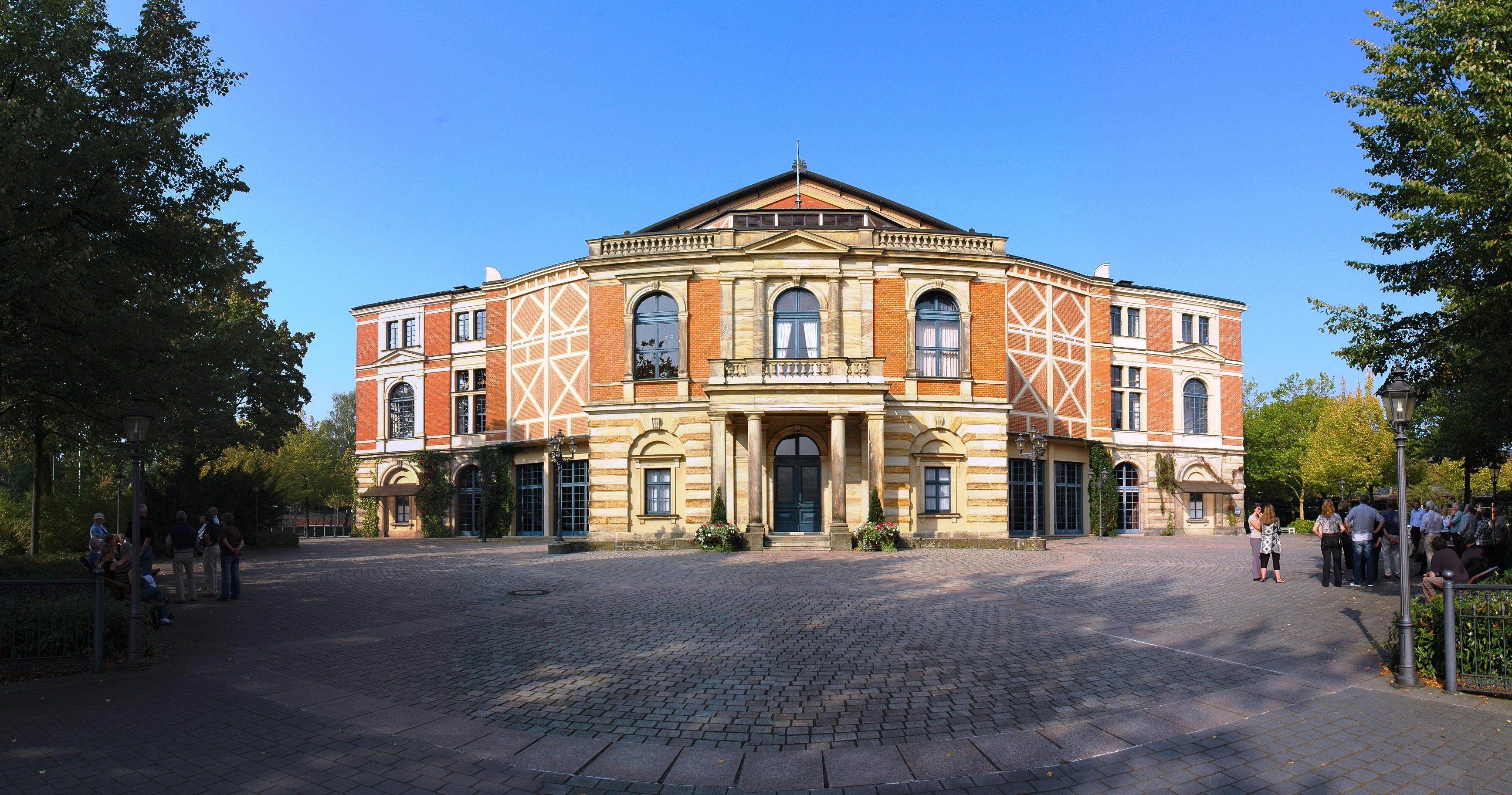 Wagner diseñó el Festspielhaus de Bayreuth con el objetivo de representar sus óperas.