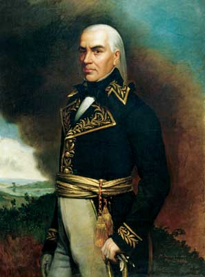 Francisco de Miranda, activist for Latin American independence (portrait by Martin Tovar y Tovar) Francisco de Miranda by Tovar y Tovar.jpg