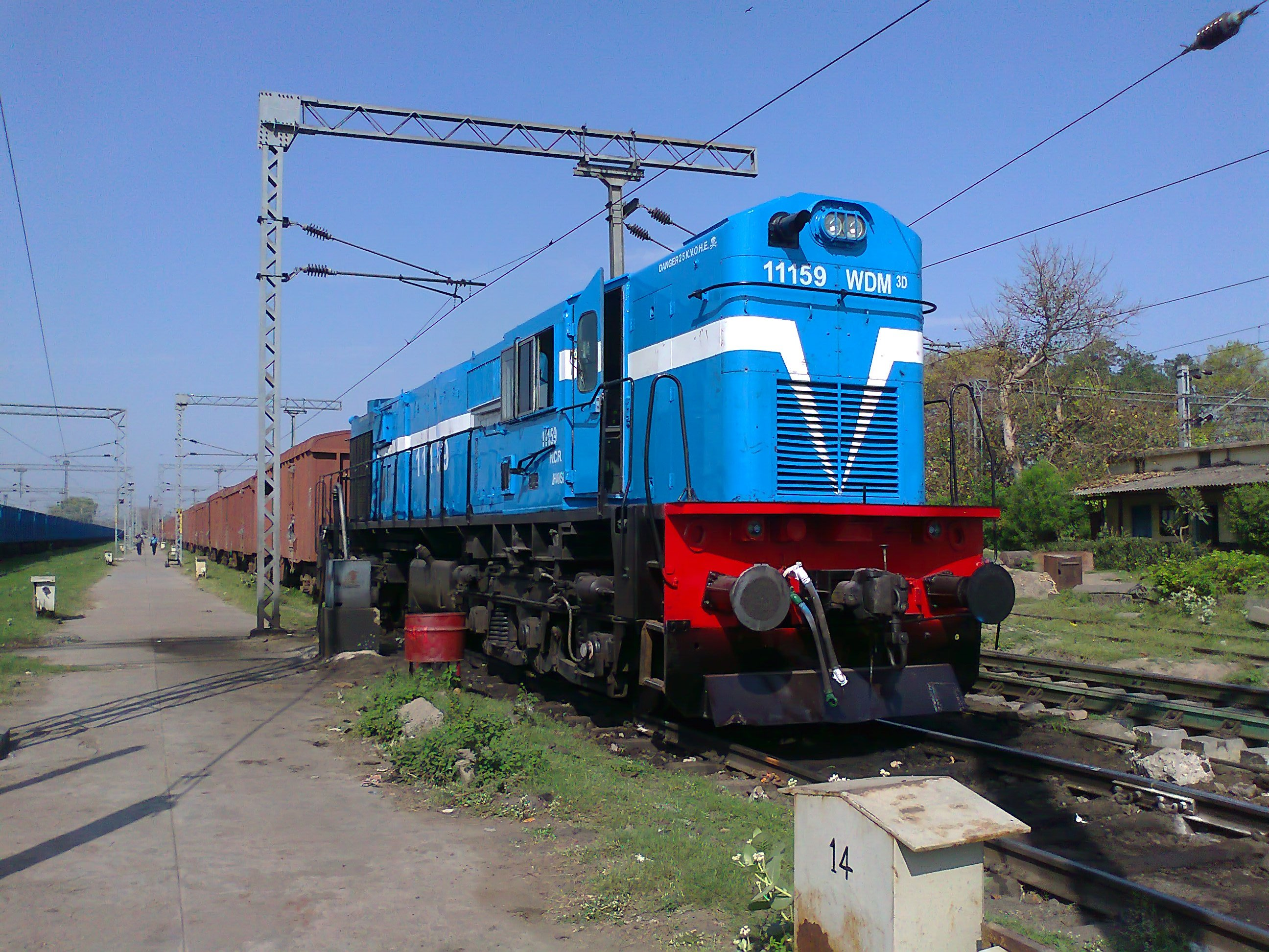 File:Freight train with WDM3D loco at Lucknow 01.jpg ...