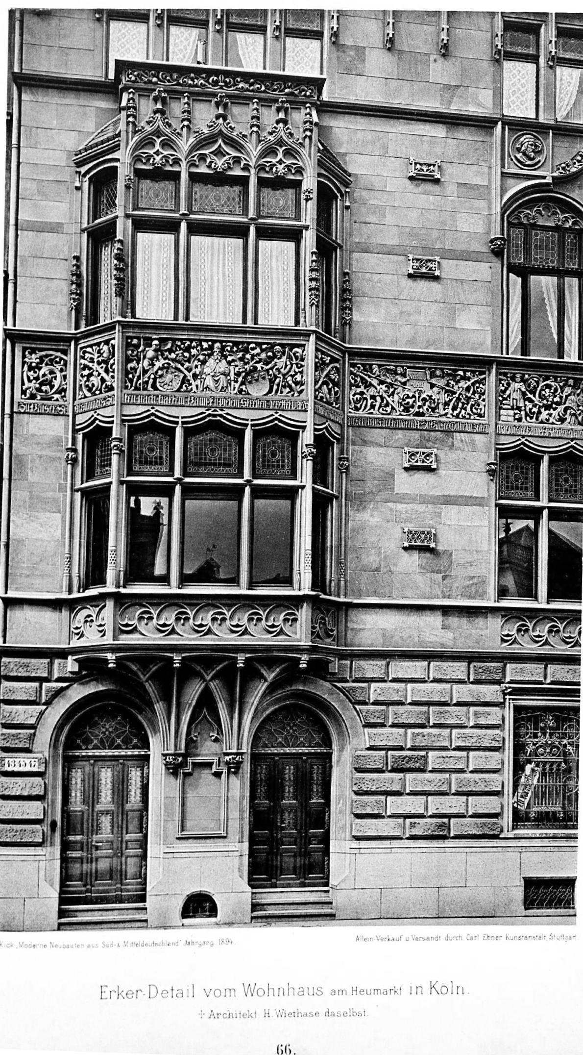 Architekt Köln file gotisches wohnhaus am heumarkt in köln architekt h wiethase