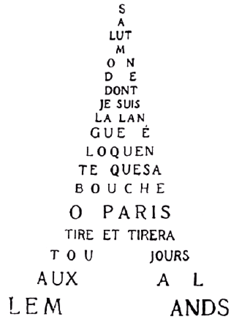 File:Guillaume Apollinaire - Calligramme - Tour Eiffel.png ...