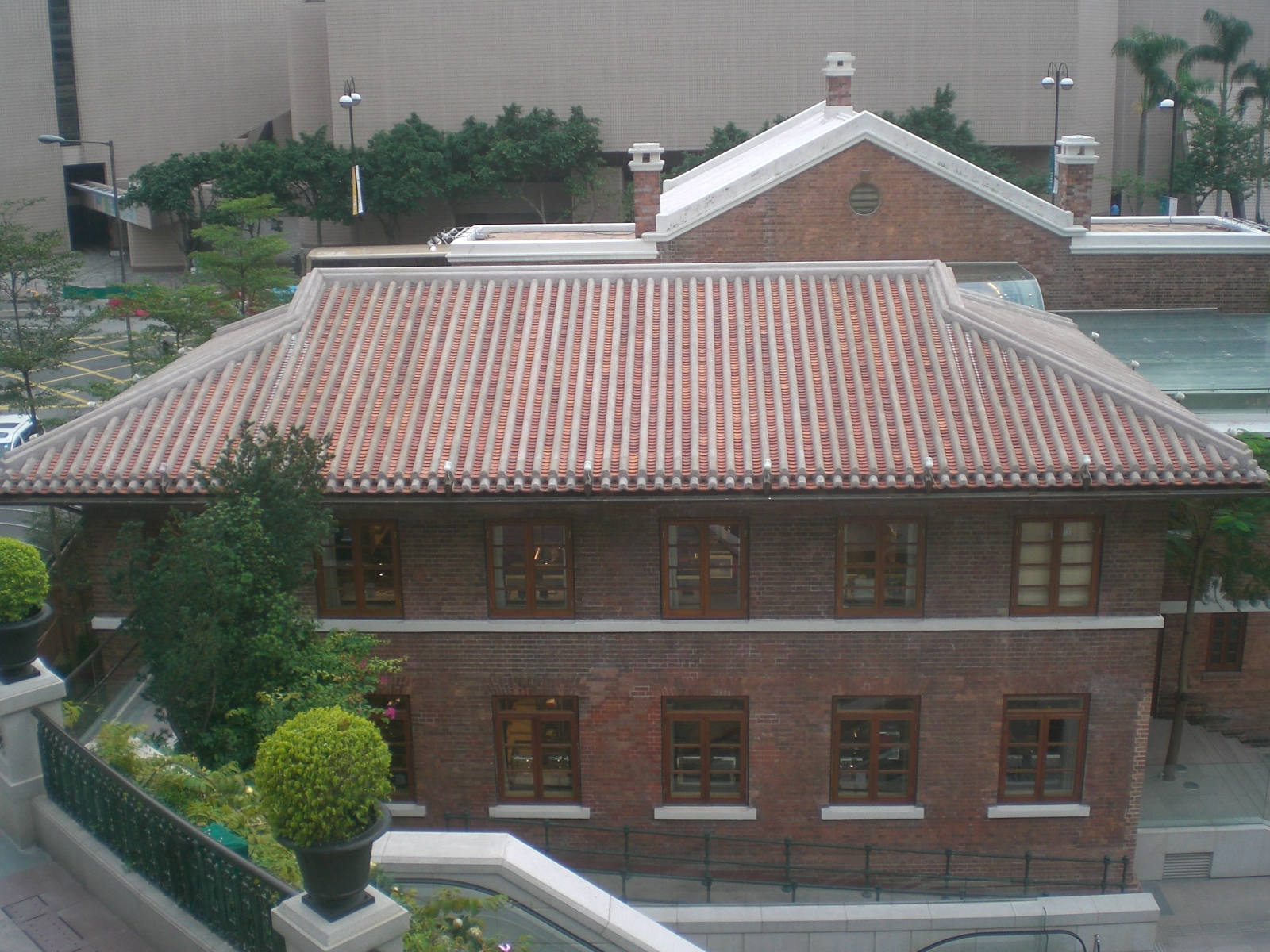 File:HK TST 1881 Mall Landscape Garden View Brick Buildings Roof.JPG