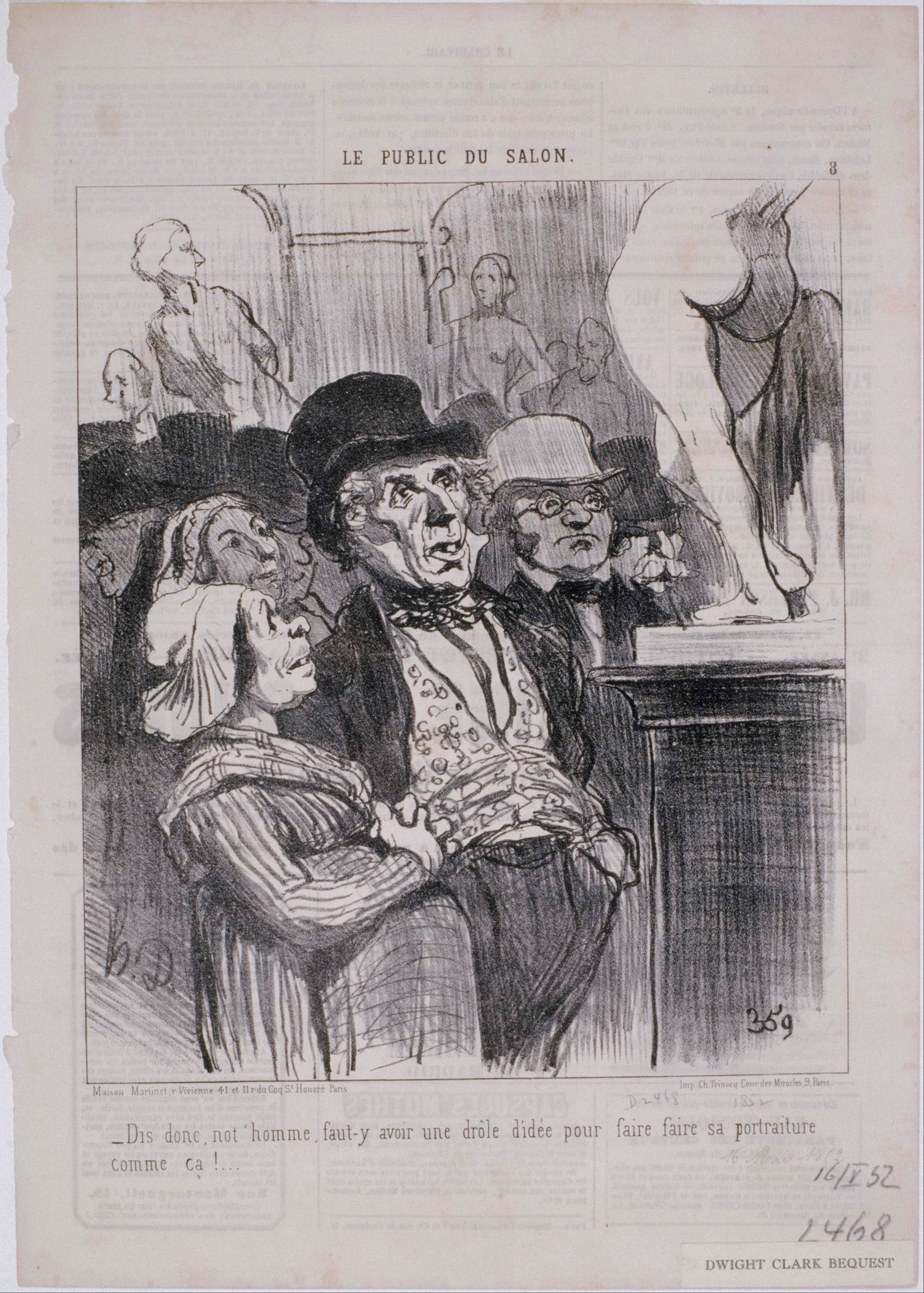 File honor daumier le public du salon dis donc not for Devant le miroir manet
