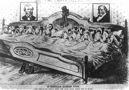 Caricature of Young's wives, after his death In memoriam brigham young 2.jpg