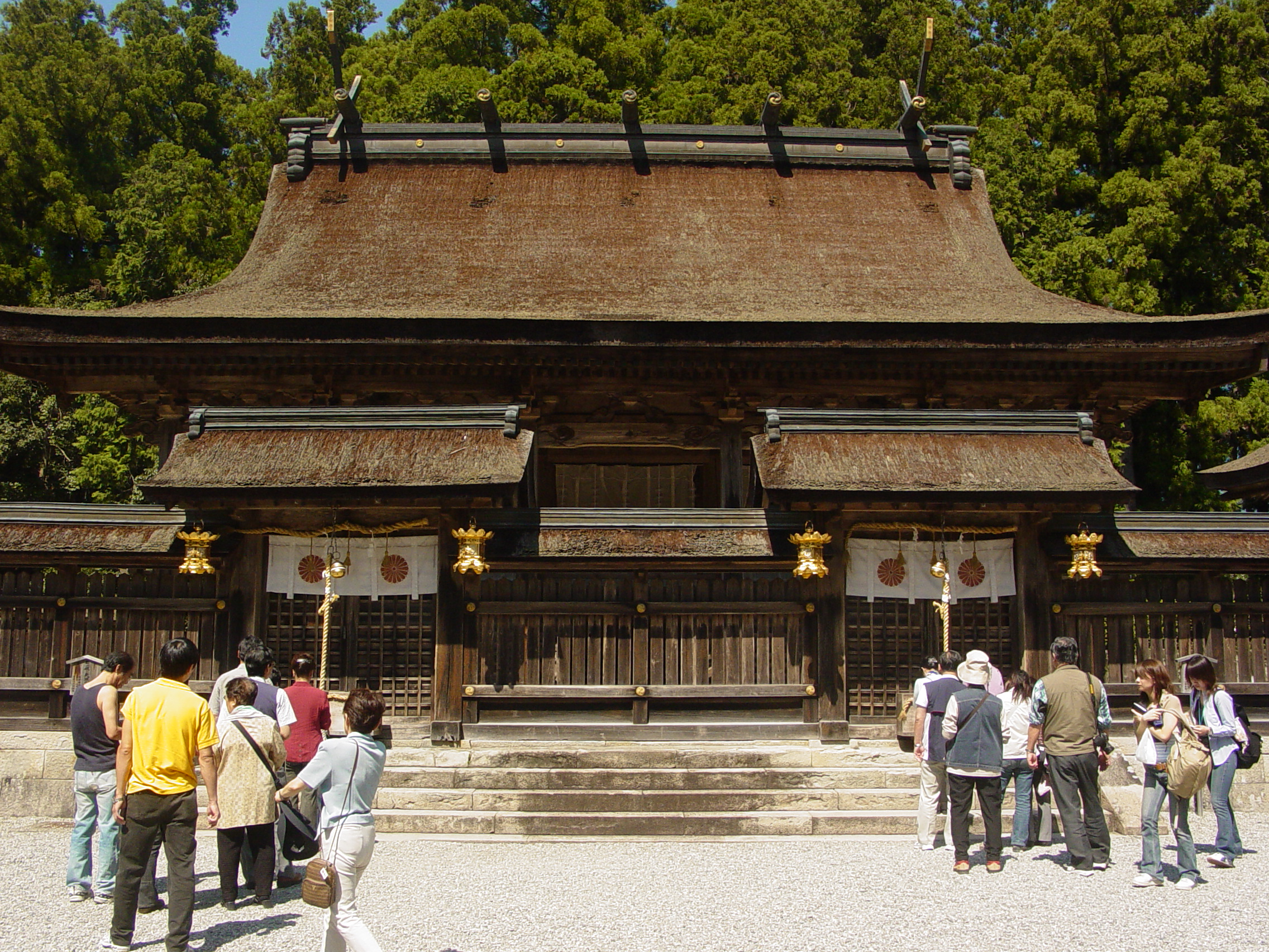 Inside the kumano hongu taisha