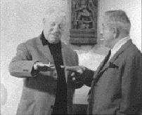 Jean Gabin et Jacques Prévert dans le film Mon...